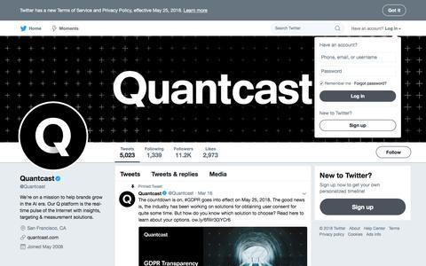 Quantcast (@Quantcast)   Twitter