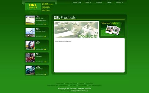 Screenshot of Products Page drl.co.uk - DRL Group - Leisure Park Development and Contruction - captured Jan. 7, 2016