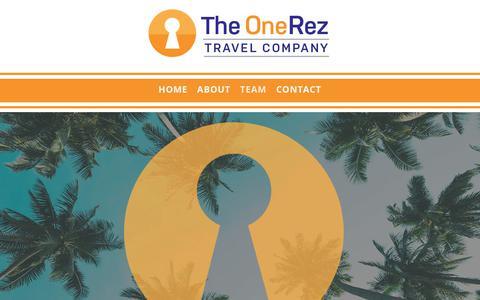 Screenshot of Team Page onerez.com - Team | The OneRez Travel Company - captured Nov. 13, 2017