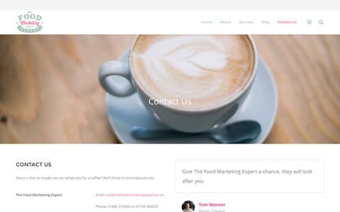 Screenshot of Contact Page thefoodmarketingexpert.co.uk - Contact Us | Food Marketing Agency - captured Dec. 15, 2016