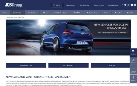 Screenshot of thejcbgroup.co.uk - New Cars for Sale In Kent - JCB Group New Car Dealer - captured April 13, 2016