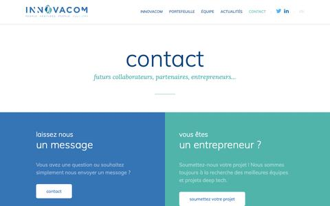Screenshot of Contact Page innovacom.com - contact | Innovacom - captured Nov. 6, 2018