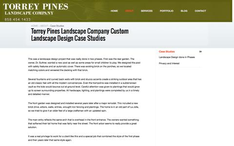Screenshot of Case Studies Page tplandscape.com - Torrey Pines Landscape Company | Torrey Pines Landscape Company Custom Landscape Design Case Studies - captured Feb. 15, 2016