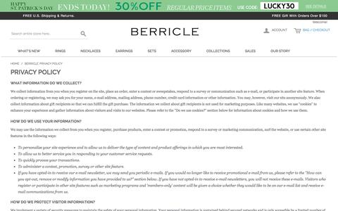 Berricle: Privacy Policy