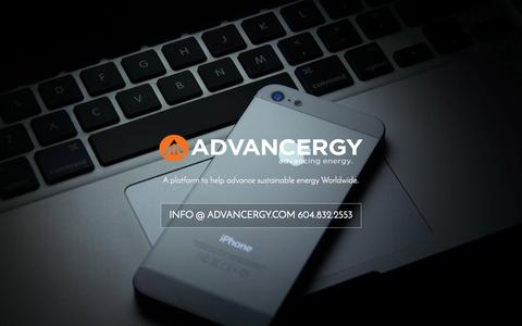 Screenshot of Home Page advancergy.com - Advancergy   A platform to help advance sustainable energy Worldwide. - captured Sept. 30, 2014