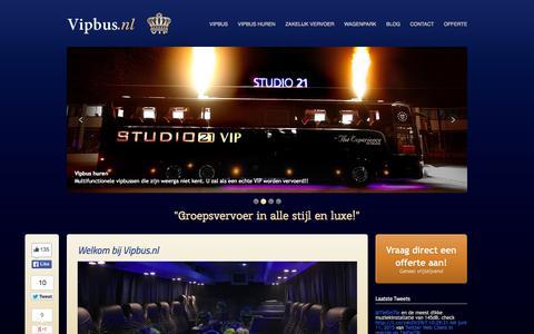 Screenshot of Home Page vipbus.nl - Welkom bij vipbus.nl! Zakelijk vervoer is onze specialiteit! | Vipbus - captured June 20, 2015