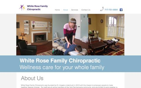 Screenshot of About Page yorkchiro.com - About York PA Chiropractic - captured Dec. 3, 2016