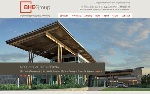 Screenshot of Home Page bhegroupinc.com - BHEGroup | Engineering, Surveying, Consulting - captured Feb. 7, 2016