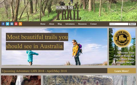 Screenshot of Home Page hikingthetrail.com - Hiking, Backpacking & Camping resources - Hiking The Trail Blog - captured July 20, 2018