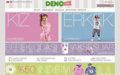 Screenshot of Home Page denokids.com - Denokids - captured Jan. 7, 2016