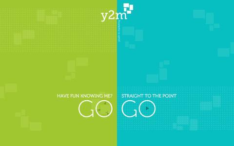Screenshot of Home Page y2m.ae - Y2M | Youth Marketing Agency - captured Feb. 2, 2016