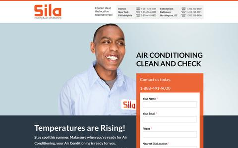 Screenshot of Landing Page sila.com - Air Conditioning Maintenance - Cooling System Clean & Check - captured Oct. 27, 2014