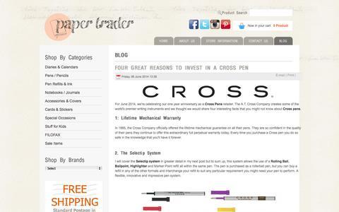 Screenshot of Blog papertrader.com.au - Blog - Paper Trader - Online Pen & Stationery Specialist - captured Oct. 1, 2014