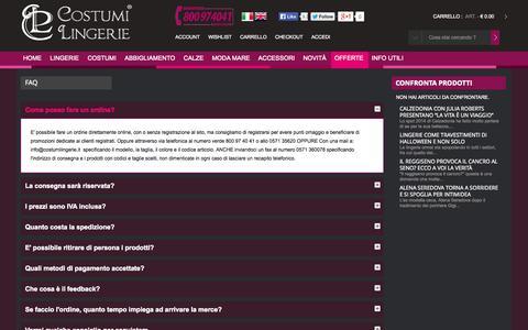 Screenshot of FAQ Page costumilingerie.it - Costumi Lingerie FAQ - captured Oct. 30, 2014