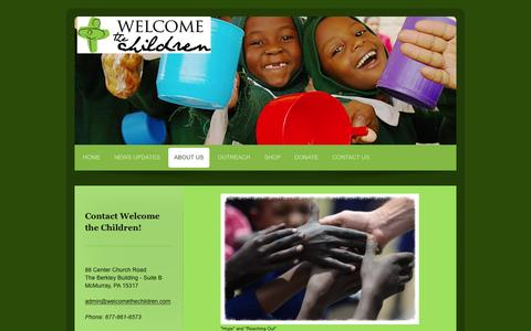 Screenshot of About Page welcomethechildren.com - Welcome The Children - ABOUT US - captured Jan. 13, 2016