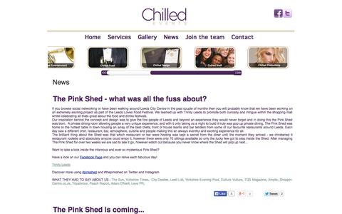 Screenshot of Press Page chilled-events.co.uk - News - captured Oct. 2, 2014