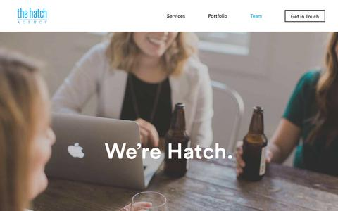 Screenshot of Team Page thehatchagency.com - Team - The Hatch Agency - captured Sept. 21, 2018