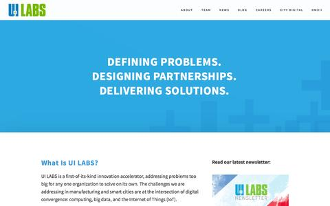 Screenshot of Home Page About Page uilabs.org - About — UI LABS - captured Nov. 27, 2016