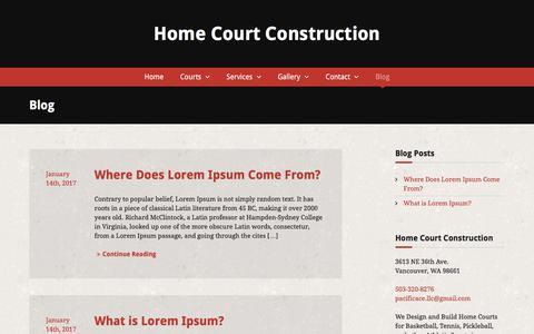 Screenshot of Blog homecourtconstruction.com - Blog - captured Aug. 25, 2017