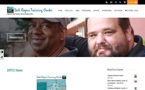 Screenshot of Press Page drtc.org - Newsroom | Dale Rogers Training Center - captured Nov. 23, 2016