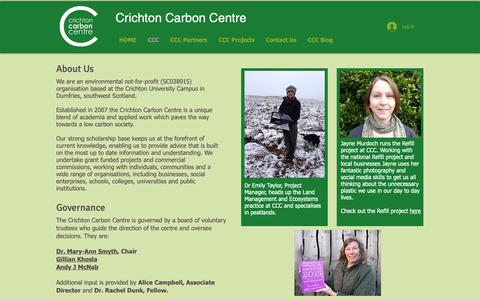 Screenshot of About Page carboncentre.org - Crichton Carbon Centre | CCC - captured Sept. 30, 2018