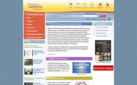 Screenshot of Home Page Login Page maupinhouse.com - Home page • Maupin House - captured Oct. 6, 2014