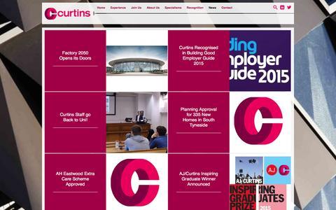 Screenshot of Press Page curtins.com - News - Curtins Consulting - captured Dec. 14, 2015