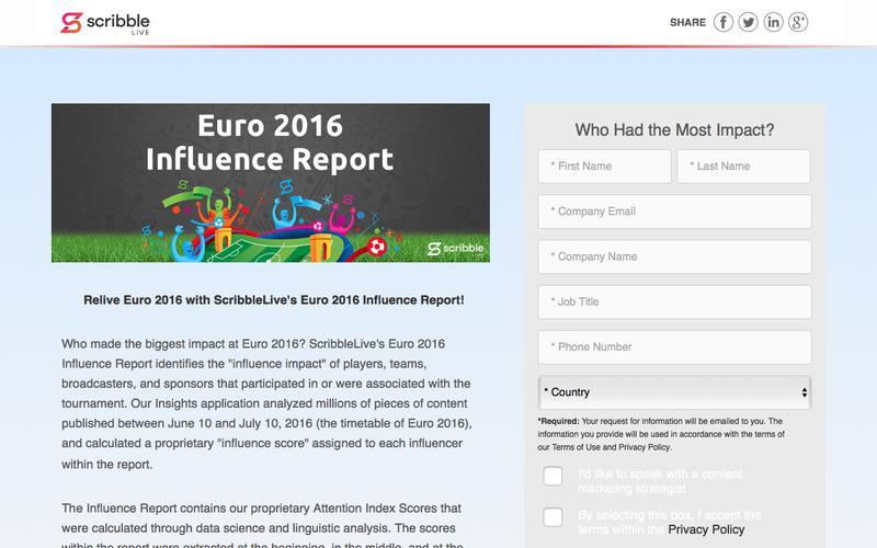 Euro 2016 Influence Report