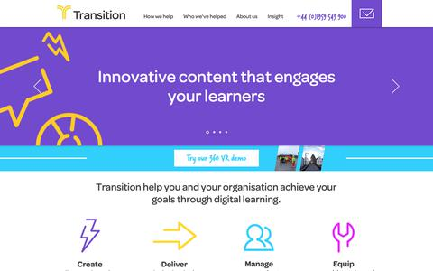 Screenshot of Home Page transition.co.uk - Transition Associates | Home - captured Oct. 20, 2018