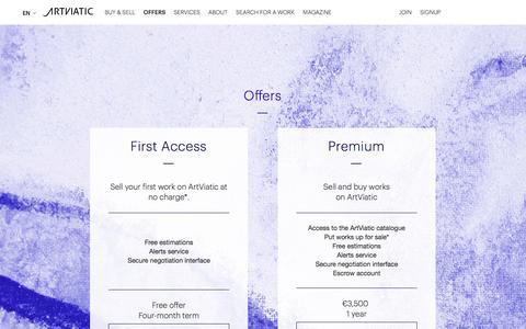 Screenshot of Signup Page artviatic.com - Offers - captured Oct. 29, 2014