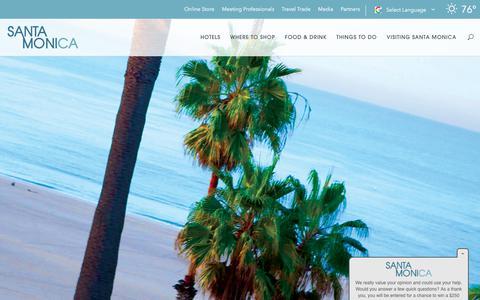 Screenshot of Jobs Page santamonica.com - Careers at the Santa Monica Travel & Tourism - captured Sept. 22, 2018