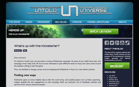 Screenshot of Blog untold-universe.com - Untold Universe | Dev Blog | Follow the game development progress! - captured Oct. 5, 2014