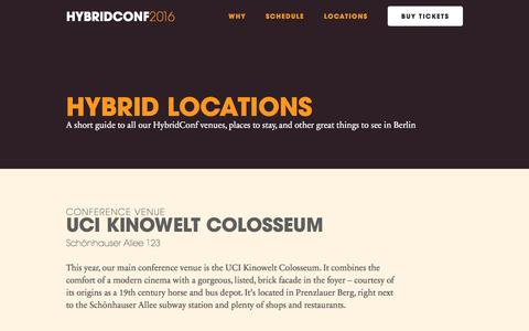 Screenshot of Locations Page hybridconf.net - HybridConf | Hybrid Locations - captured Sept. 3, 2016