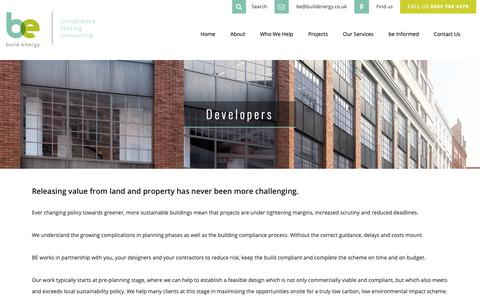 Screenshot of Developers Page buildenergy.co.uk - Developers - Build Energy - captured Oct. 7, 2018
