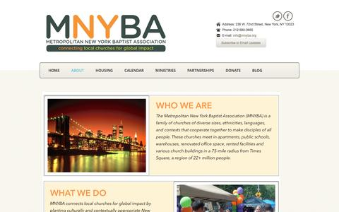 Screenshot of About Page mnyba.org - MNYBA  » About - captured Nov. 28, 2016