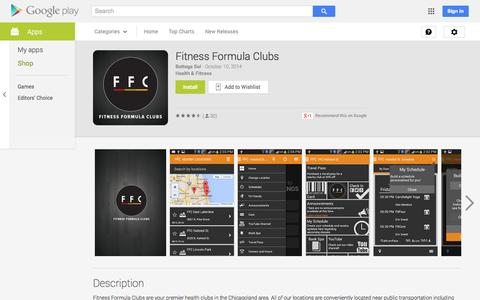 Screenshot of Android App Page google.com - Fitness Formula Clubs - Android Apps on Google Play - captured Oct. 31, 2014