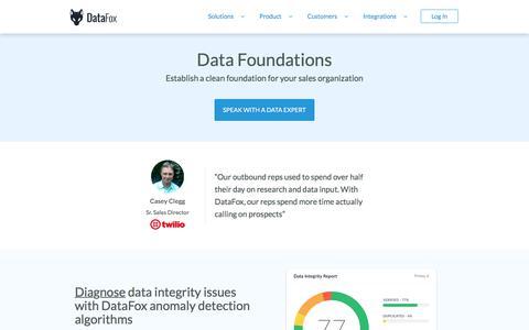 DataFox | Solutions - Data Foundations