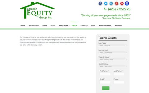 Screenshot of About Page cascade-equity.com - Cascade Equity Group, Inc - captured Jan. 26, 2016