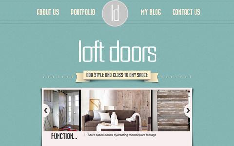 Screenshot of About Page loftdoors.com - Reclaimed Doors Canada, Reclaimed Doors Toronto, Barn Beams Toronto - captured Oct. 31, 2014