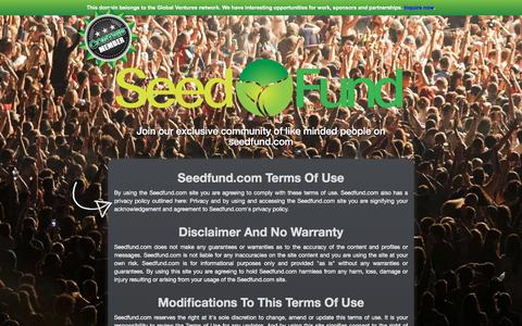 Screenshot of Terms Page seedfund.com - Seedfund.com - Terms of Use - captured Feb. 26, 2016