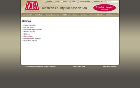 Screenshot of Site Map Page acbanet.org - Alameda County Bar Association - captured Oct. 4, 2014
