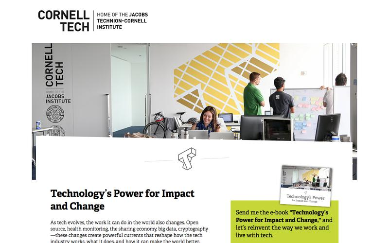 Cornell Tech - Technology's Power