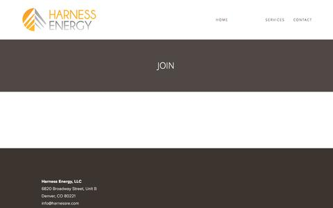 Screenshot of Signup Page harnessre.com - Join — Harness Energy - captured Oct. 27, 2016