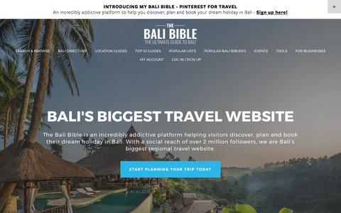 Screenshot of Home Page thebalibible.com - The Bali Bible - Welcome to The Bali Bible - captured March 11, 2017