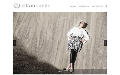Screenshot of Home Page silver-sands.eu - world of siLversands - captured Oct. 6, 2014