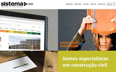Screenshot of Home Page sistema4.pt - Sistema4 - Agência de Publicidade - captured Sept. 21, 2018
