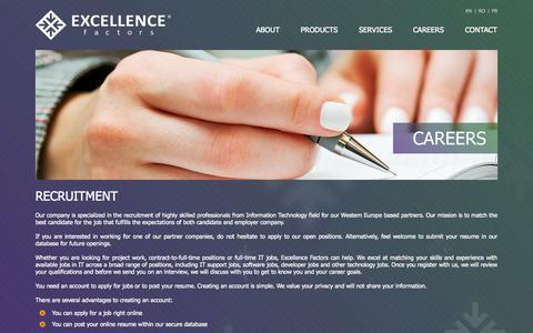 Screenshot of Jobs Page excellence-factors.com - Excellence Factors - captured Sept. 30, 2014