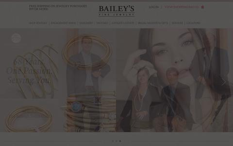 Screenshot of Home Page baileybox.com - Jewelry Store Raleigh | Engagement Rings Raleigh | Bailey's Fine Jewelry - captured Jan. 29, 2016