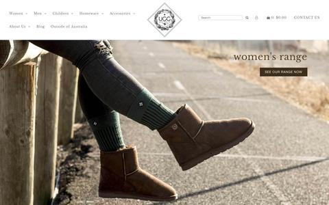 Screenshot of Home Page uggaustralia.com.au - Ugg Australia® Online Store   100% Australian Made   Ugg Australia® - captured Aug. 7, 2018