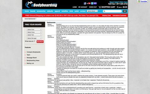Screenshot of Testimonials Page ebodyboarding.com - Testimonials - captured Sept. 22, 2014